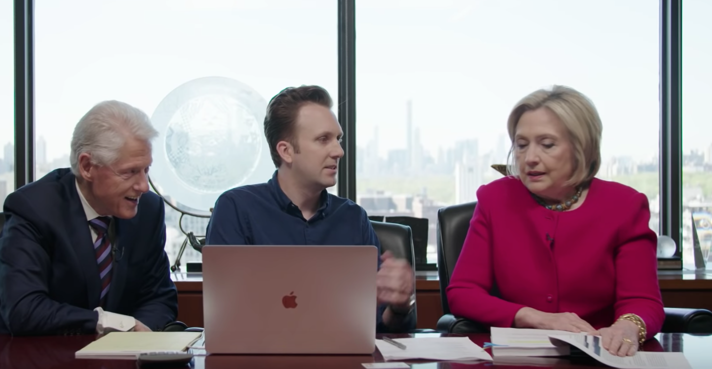 Clinton reads excerpt of Mueller report for Comedy Central show