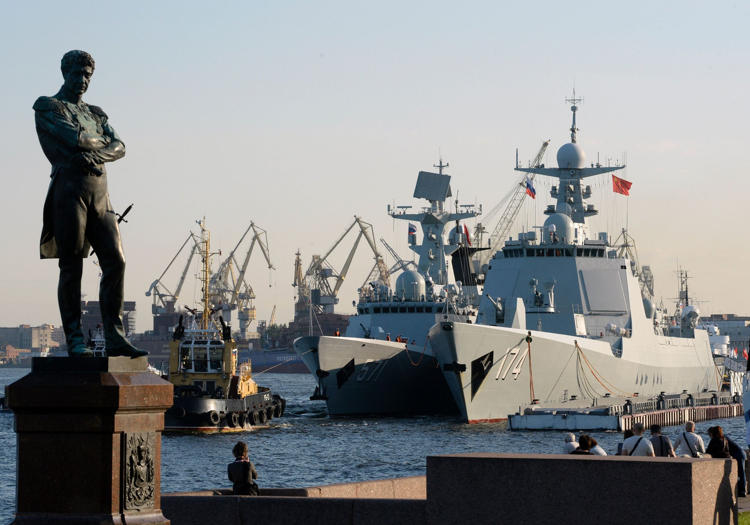 Russia China naval exercises drills