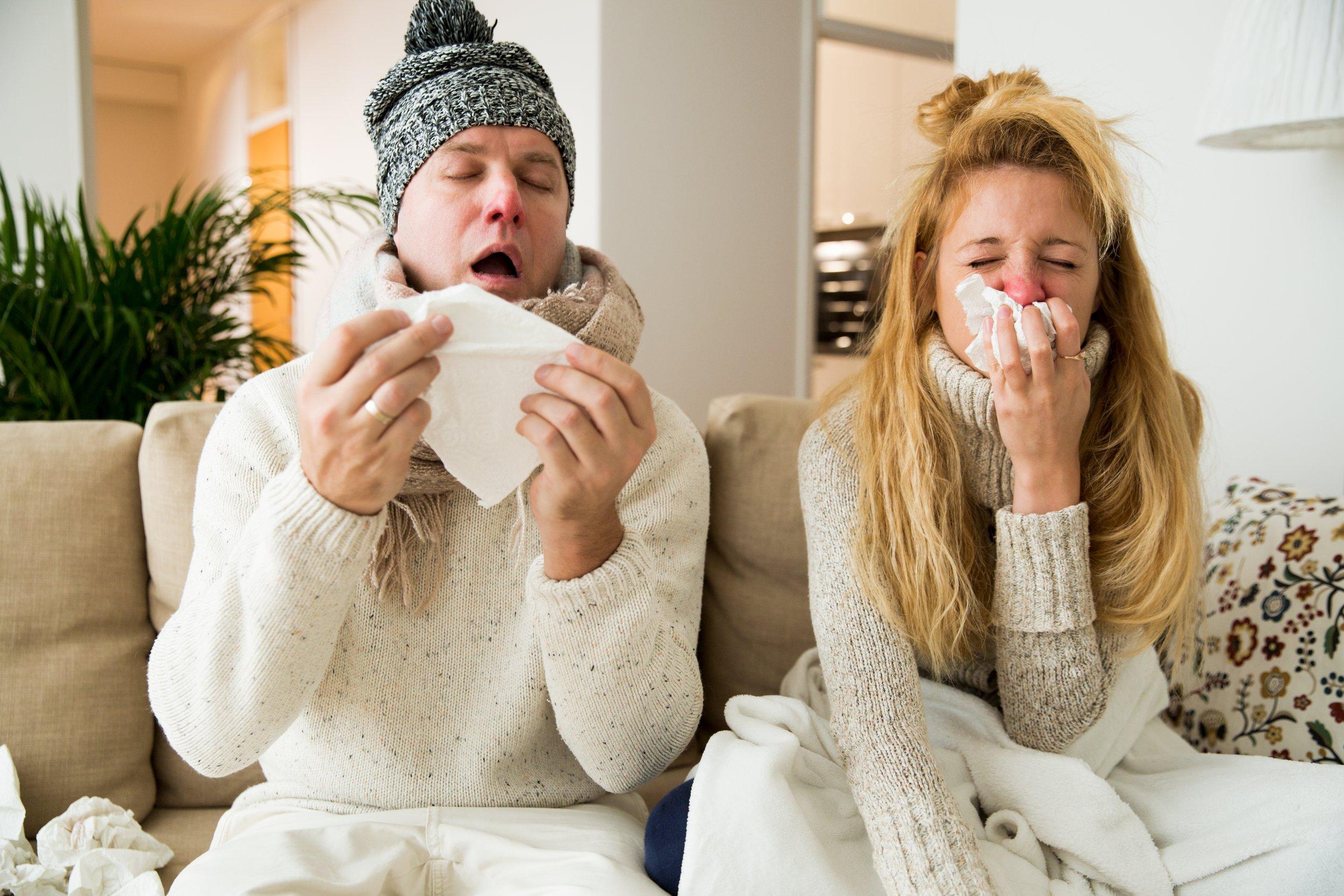 sneeze sick ill flu getty stock