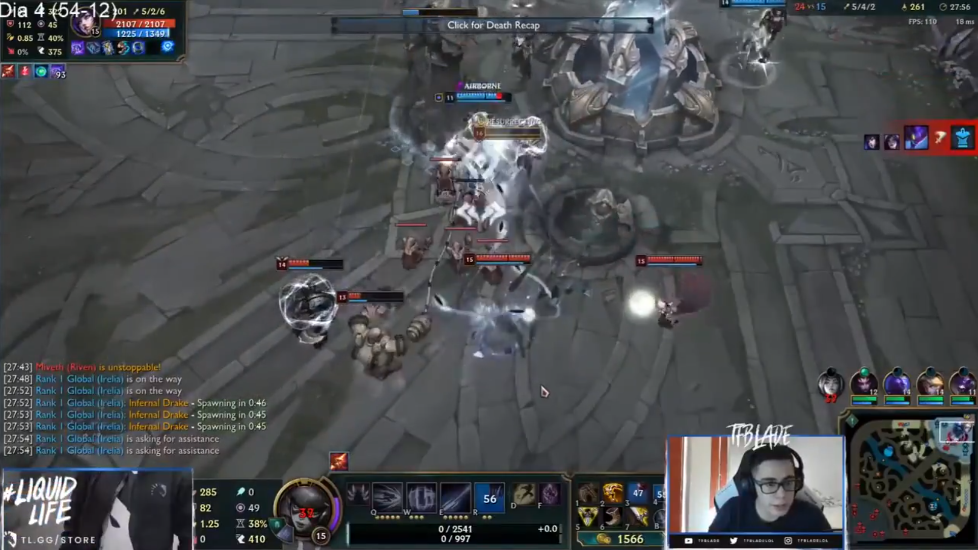 League of Legends' Streamer TF Blade Briefly Banned on