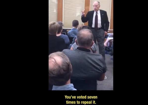 senator grassley aca iowa video