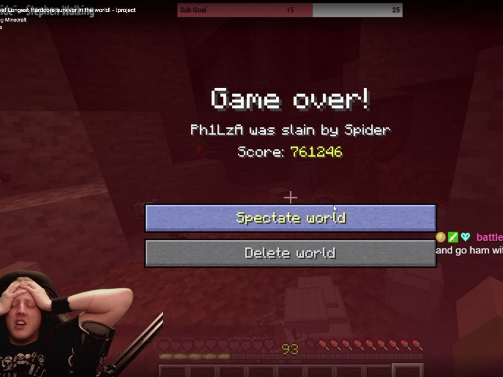 Minecraft Hardcore Streamer Philza Loses His 5 Year Run In