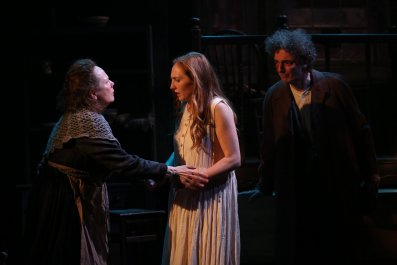 Maryann Plunkett, Clare O'Malley and John Keating in Irish Repertory Theatre's THE PLOUGH AND THE STARS, Photo by Carol Rosegg