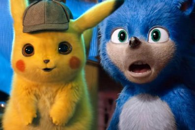 detective pikachu vs sonic the hedgehog movie pokemon