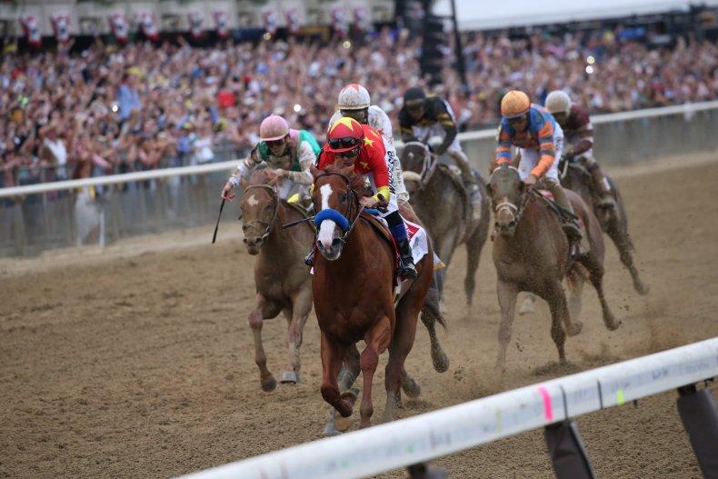 justify triple crown winner belmont race