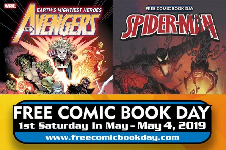 marvel comics free comic book day 2019 spiderman avengers