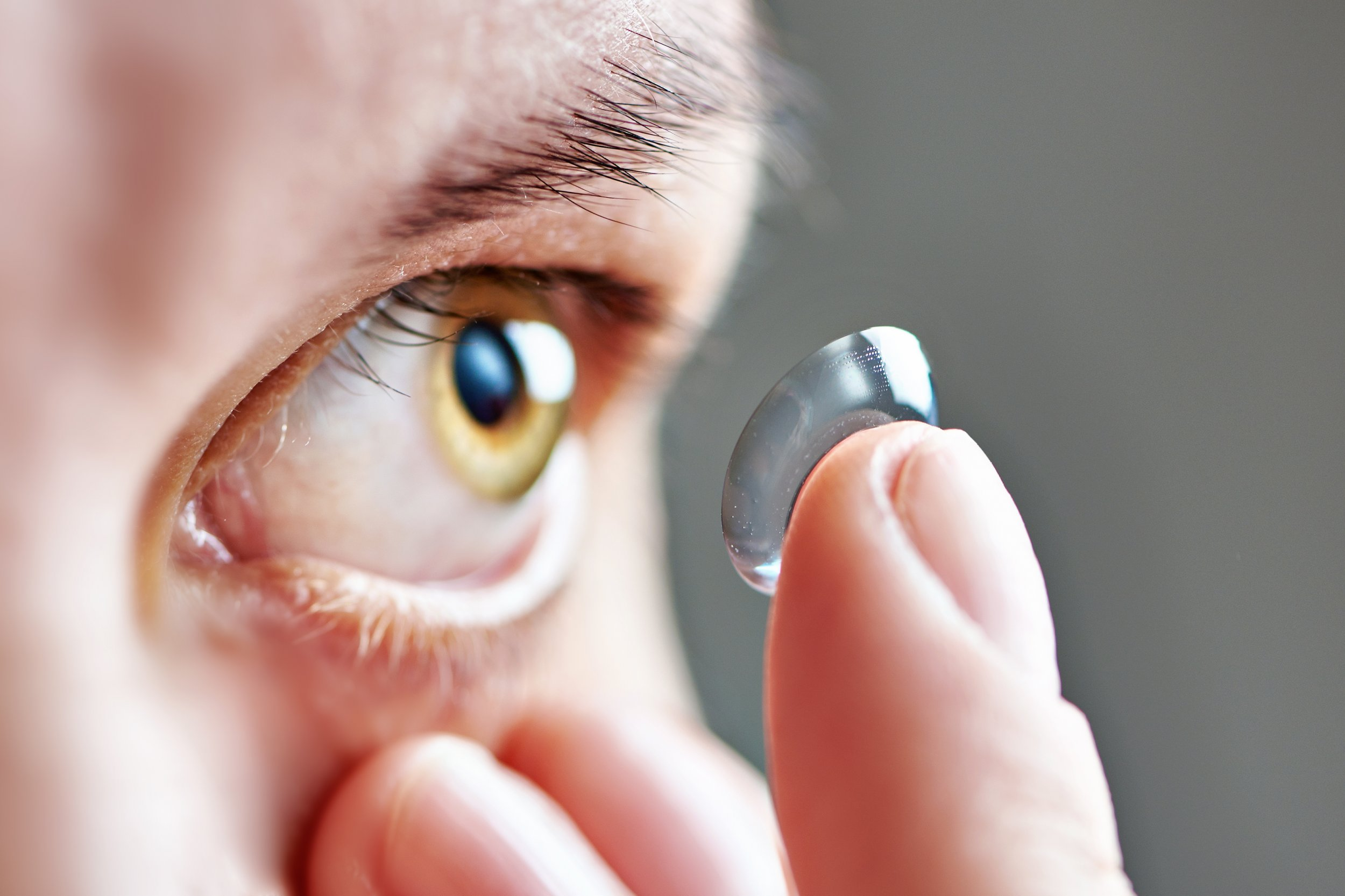 contact lens eye stock getty
