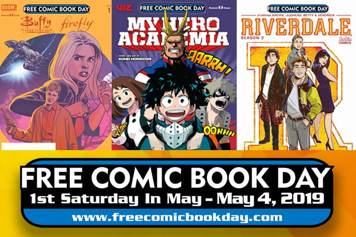 There are 51 free comics available this FCBD Viz  Boom  Archie