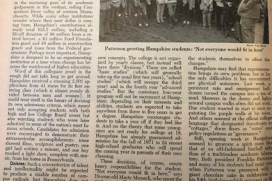 ken burns hampshire college newsweek