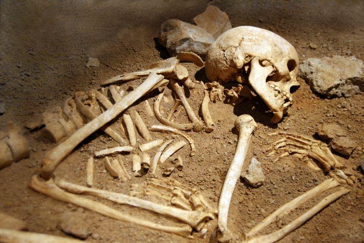skeleton grave