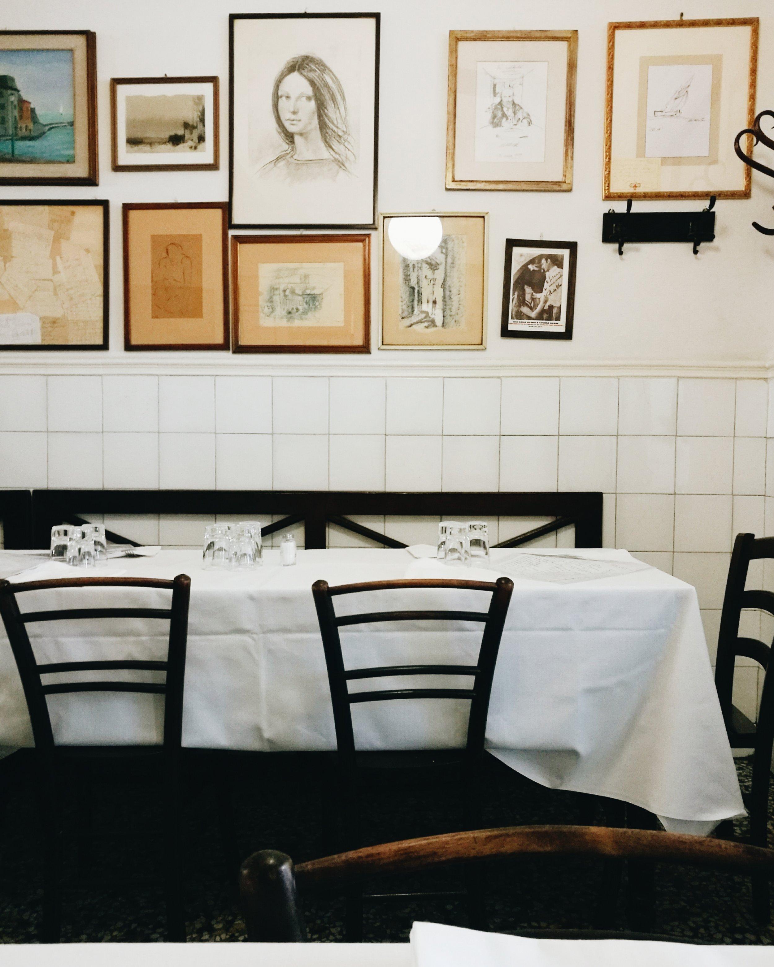 Trattoria Sostanza tables photo credit Emiko Davies