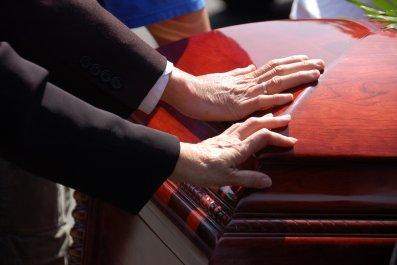 death coffin casket stock getty
