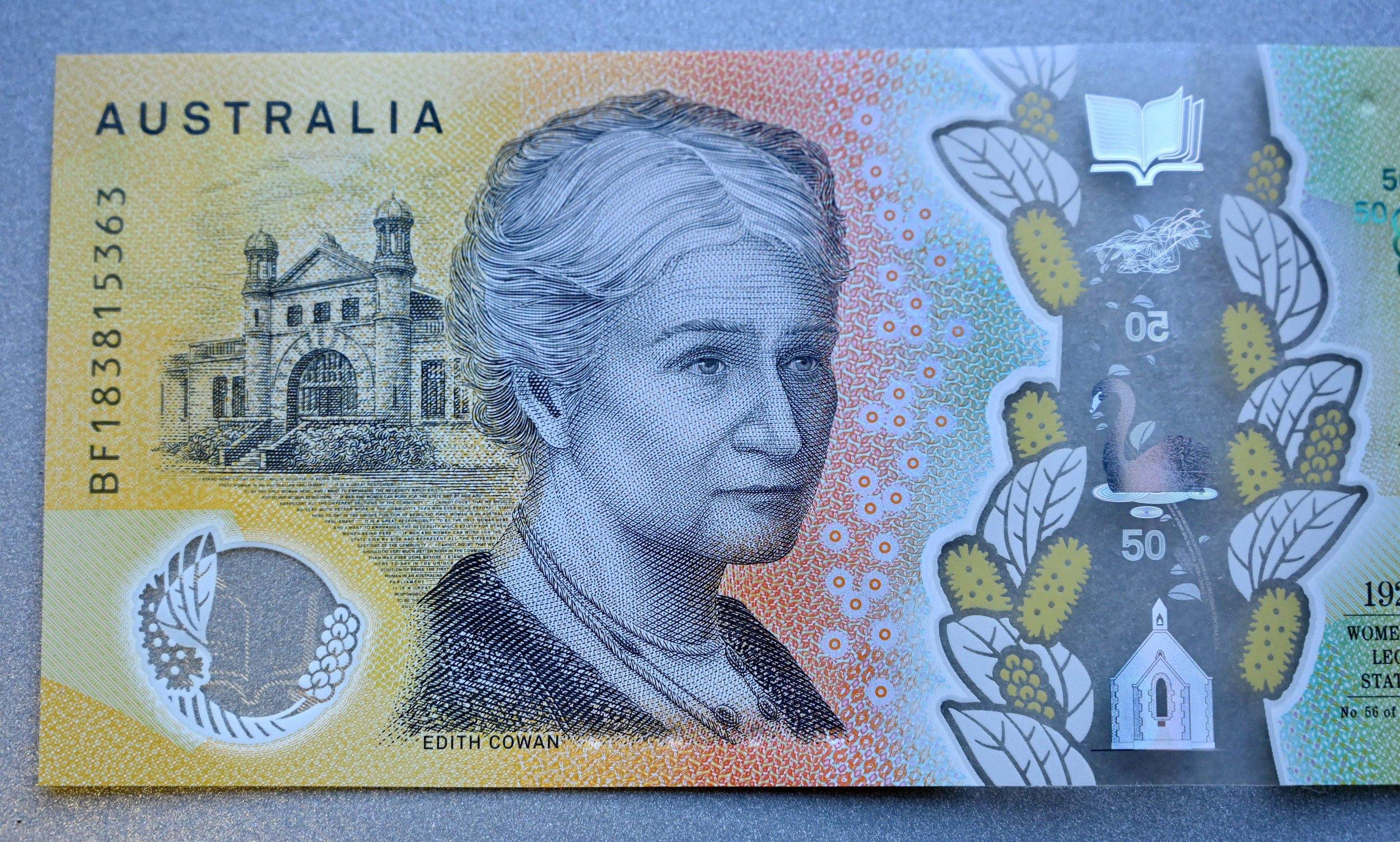 Australia, $50, mispelled
