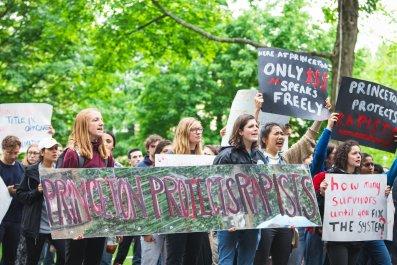 princeton university title ix protest