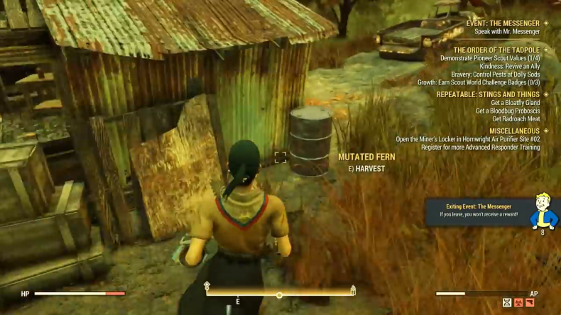 fallout 76 pioneer scout bunker shack
