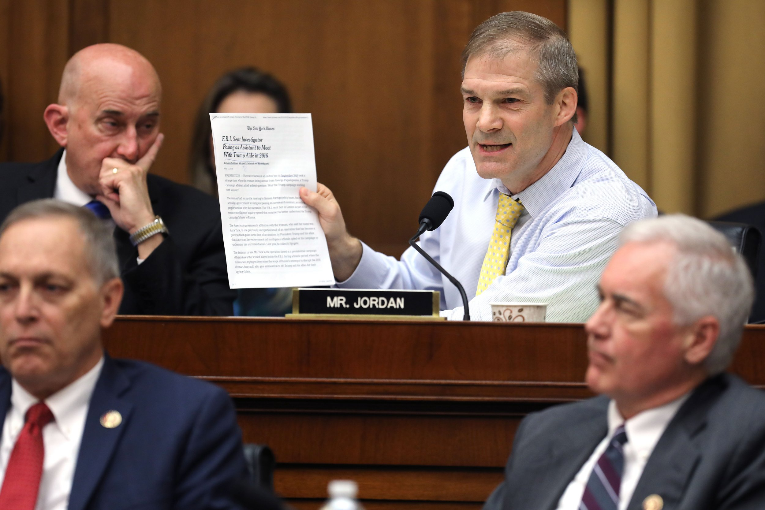 jim, jordan, encourage, trump, jr, not, testify, again