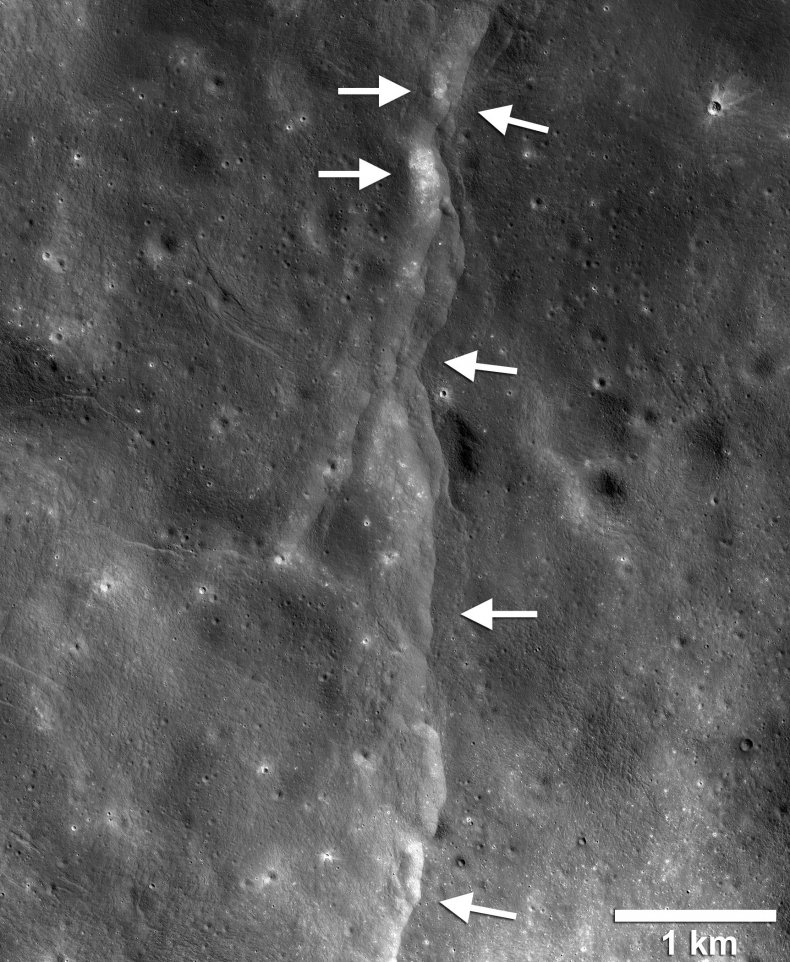 moon surface moonquakes