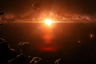 asteroids, star, solar system