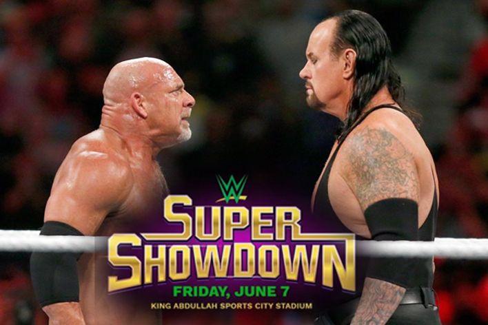 wwe super showdown saudi arabia goldberg vs undertaker card