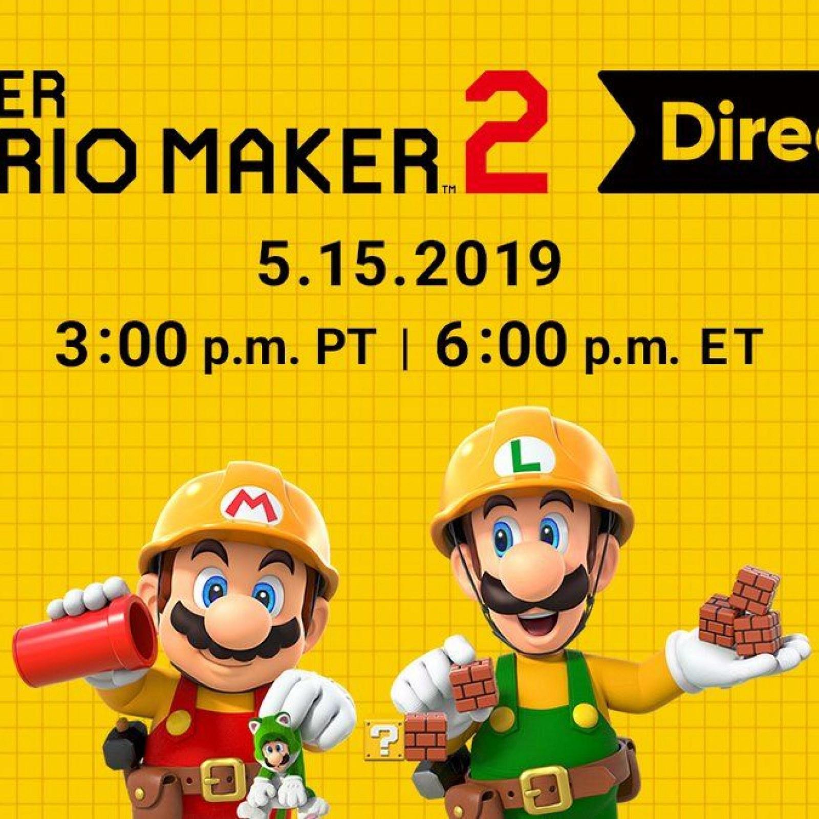 Next Nintendo Direct Will Focus on 'Super Mario Maker 2'