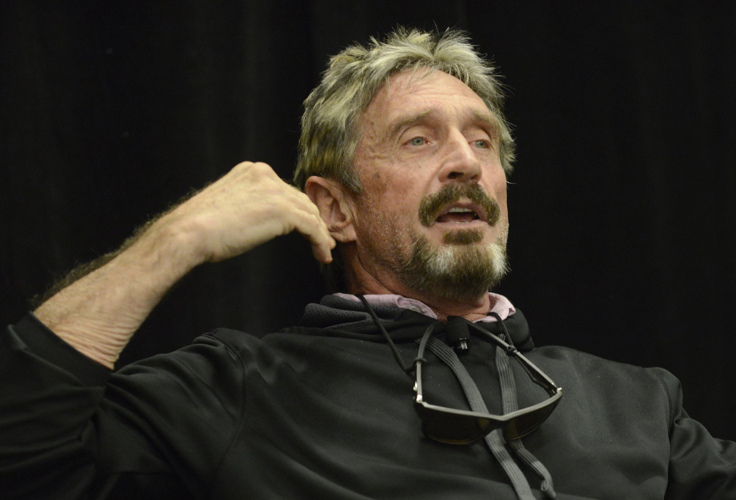 john, mcafee, twitter, cryptocurrency, running, president