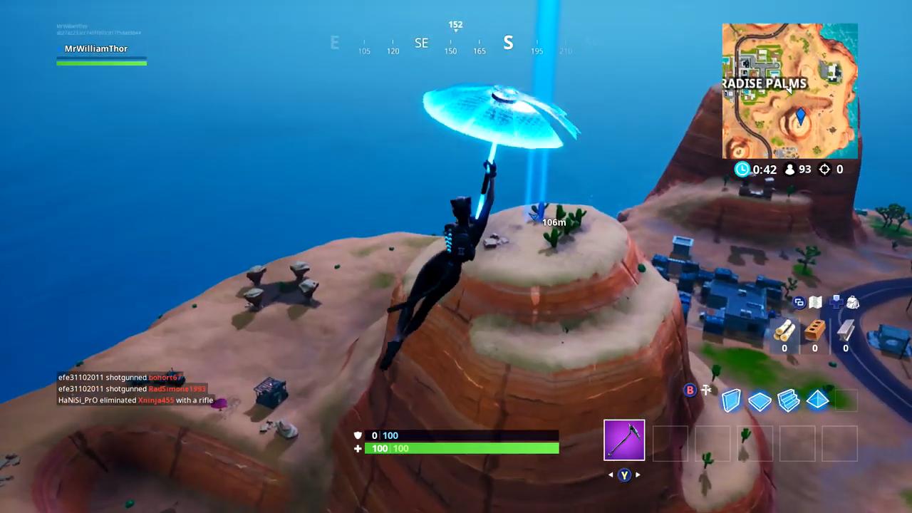 fortnite mountain top cactus wedge gameplay
