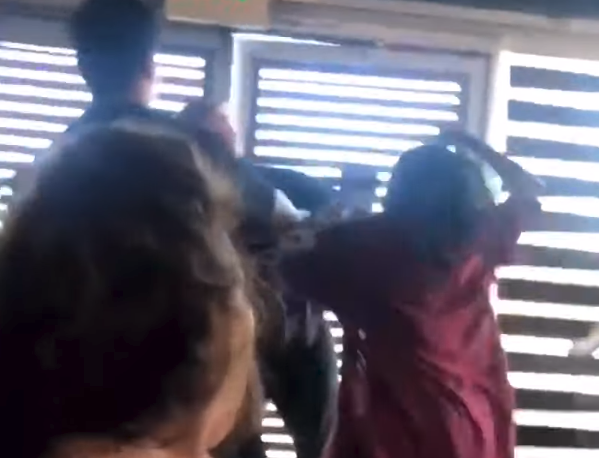 Racist Man Punched