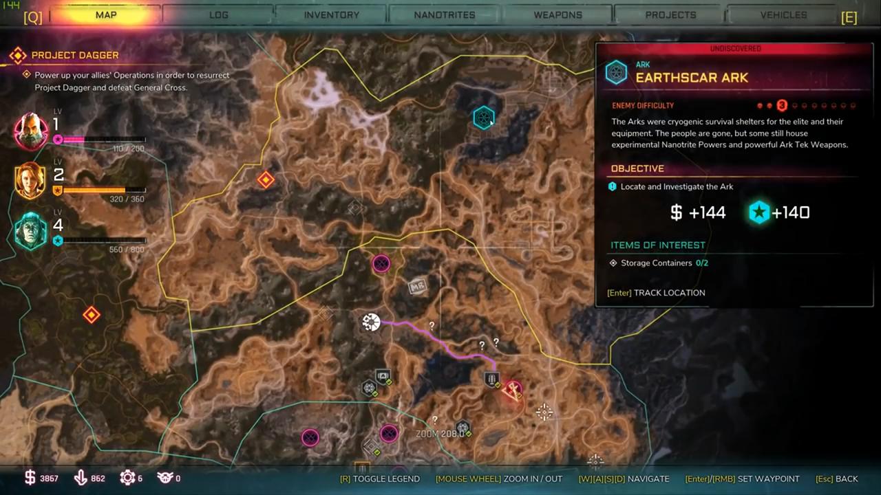 rage 2 earthscar ark location