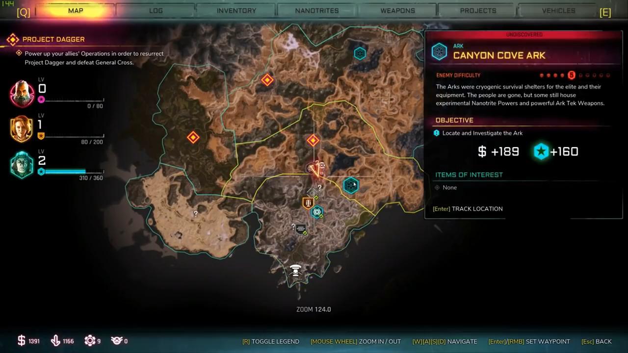 rage 2 canyon cove ark location
