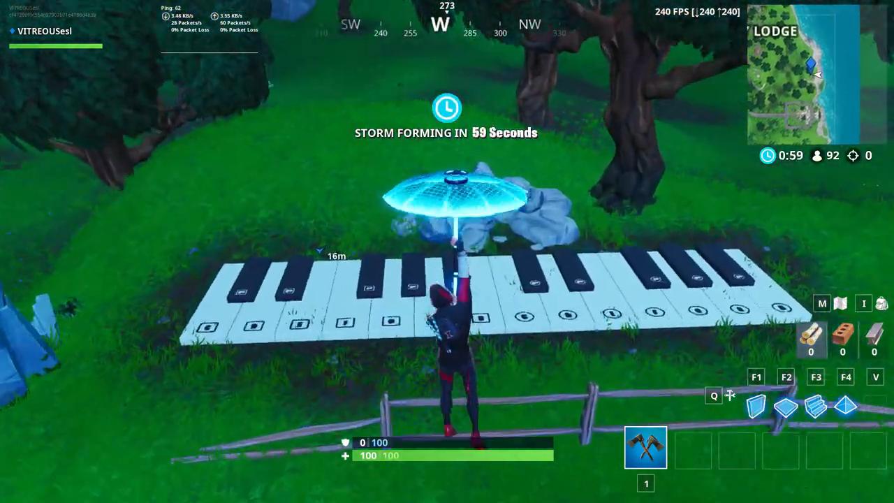 Fortnite big piano location