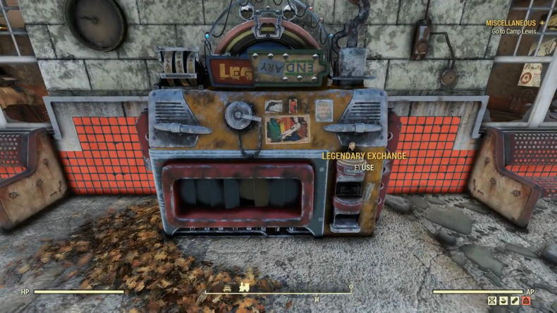 Fallout 76 legendary exchange machine