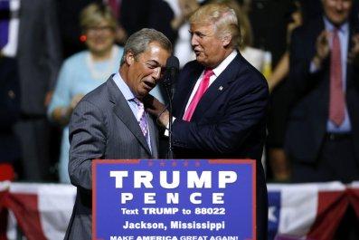 Donald Trump Nigel Farage Russia
