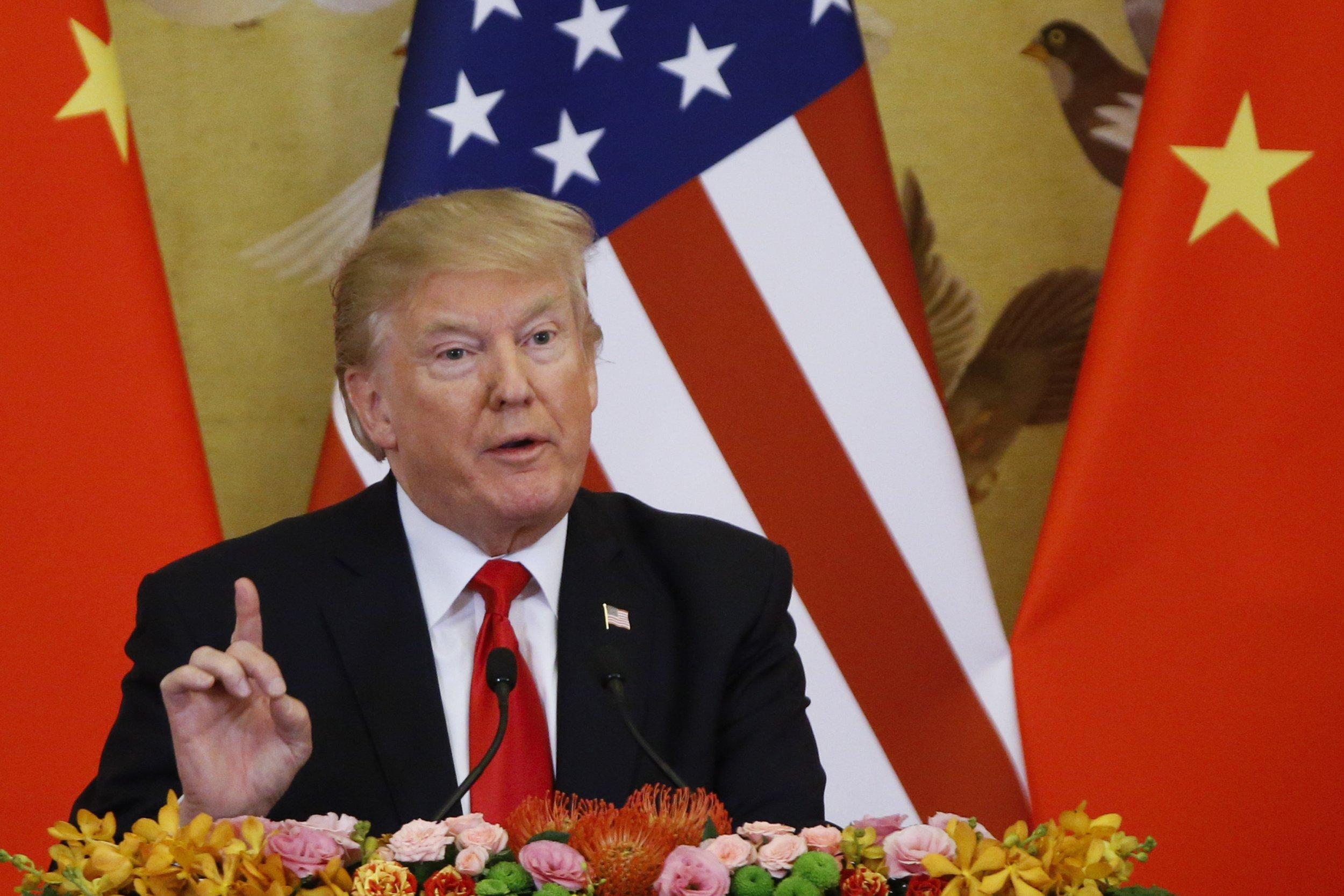 Donald Trump China monster Obama Bush Clinton trade war