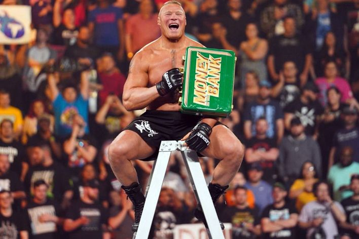 wwe monday night raw live results brock lesnar mitb