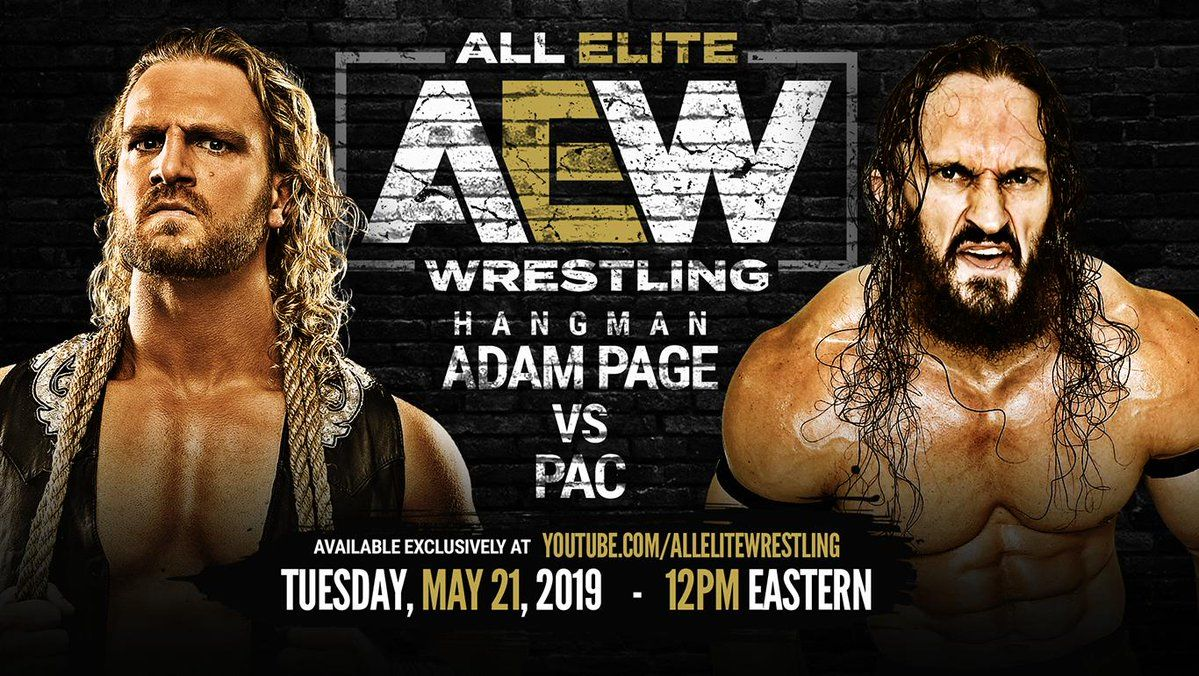 all elite wrestling hangman page vs pac online free