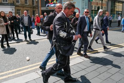 Nigel Farage milkshake attack