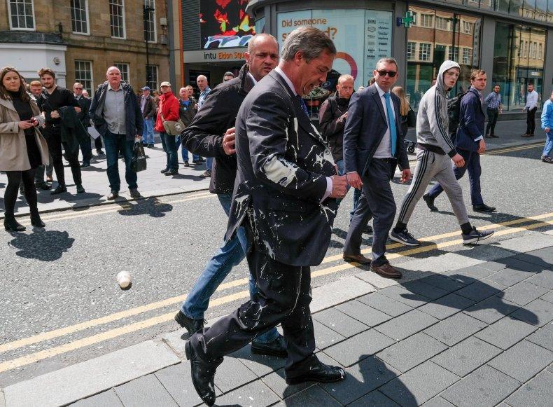Nigel Farage milkshake attack