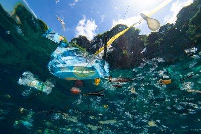 plastic waste, ocean