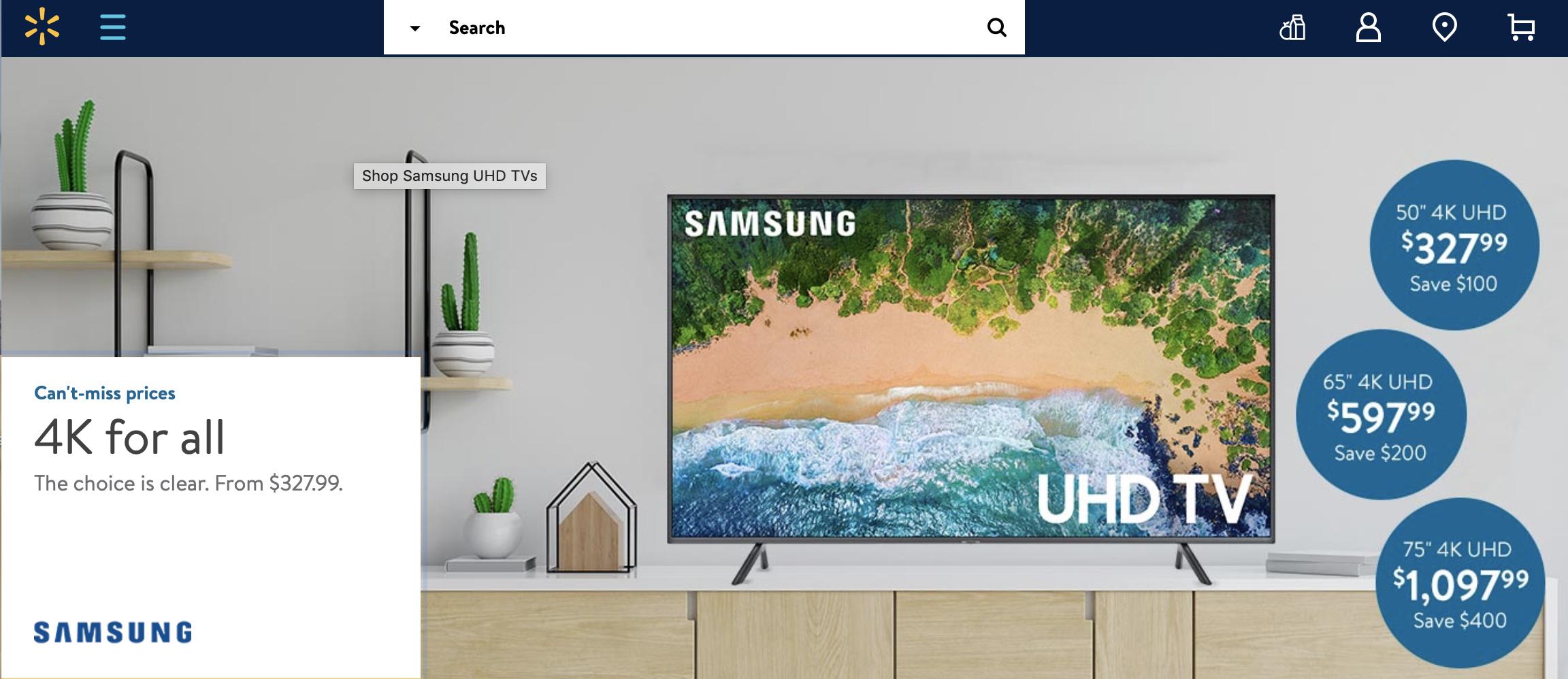a900344de1e Walmart Memorial Day TV Sale 2019  Best Deals On Smart TVs