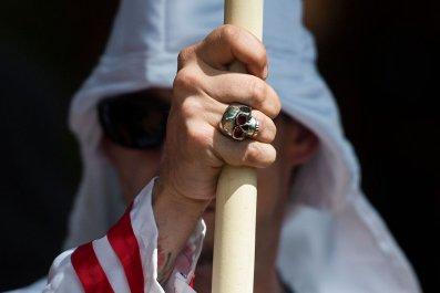 A member of the Ku Klux Klan