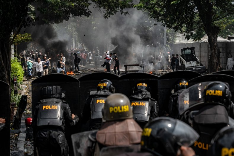 Indonesia riots elections US embassy