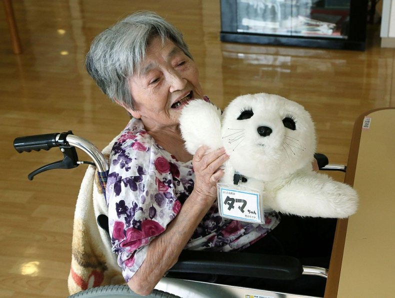 Japan dementia patients robot Alzheimer's