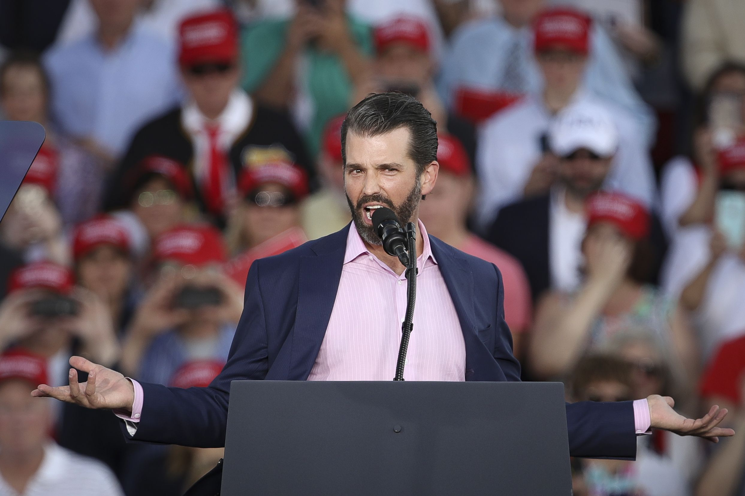 Donald Trump Jr. Holds MAGA Rally