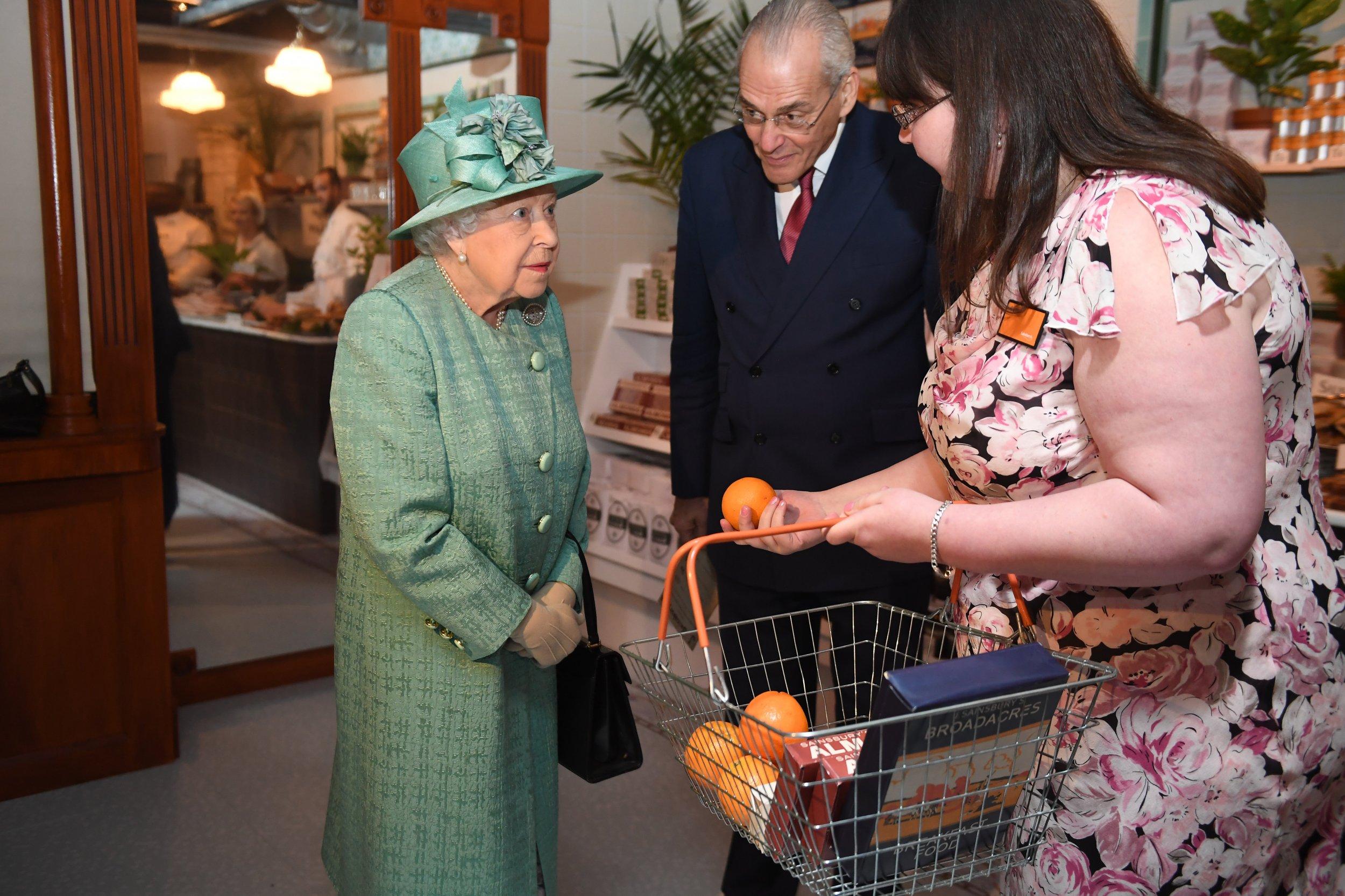 Queen Elizabeth II, Supermarket