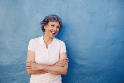 old woman happy laugh stock getty