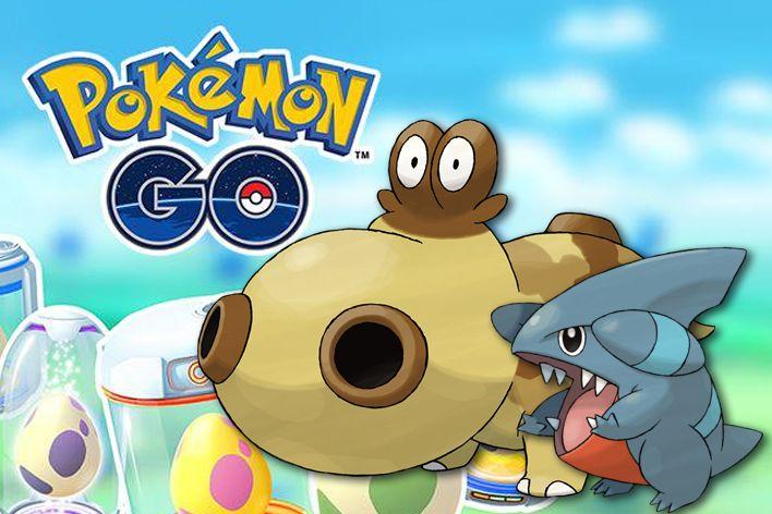 pokemon go egg chart update gible hippopotas