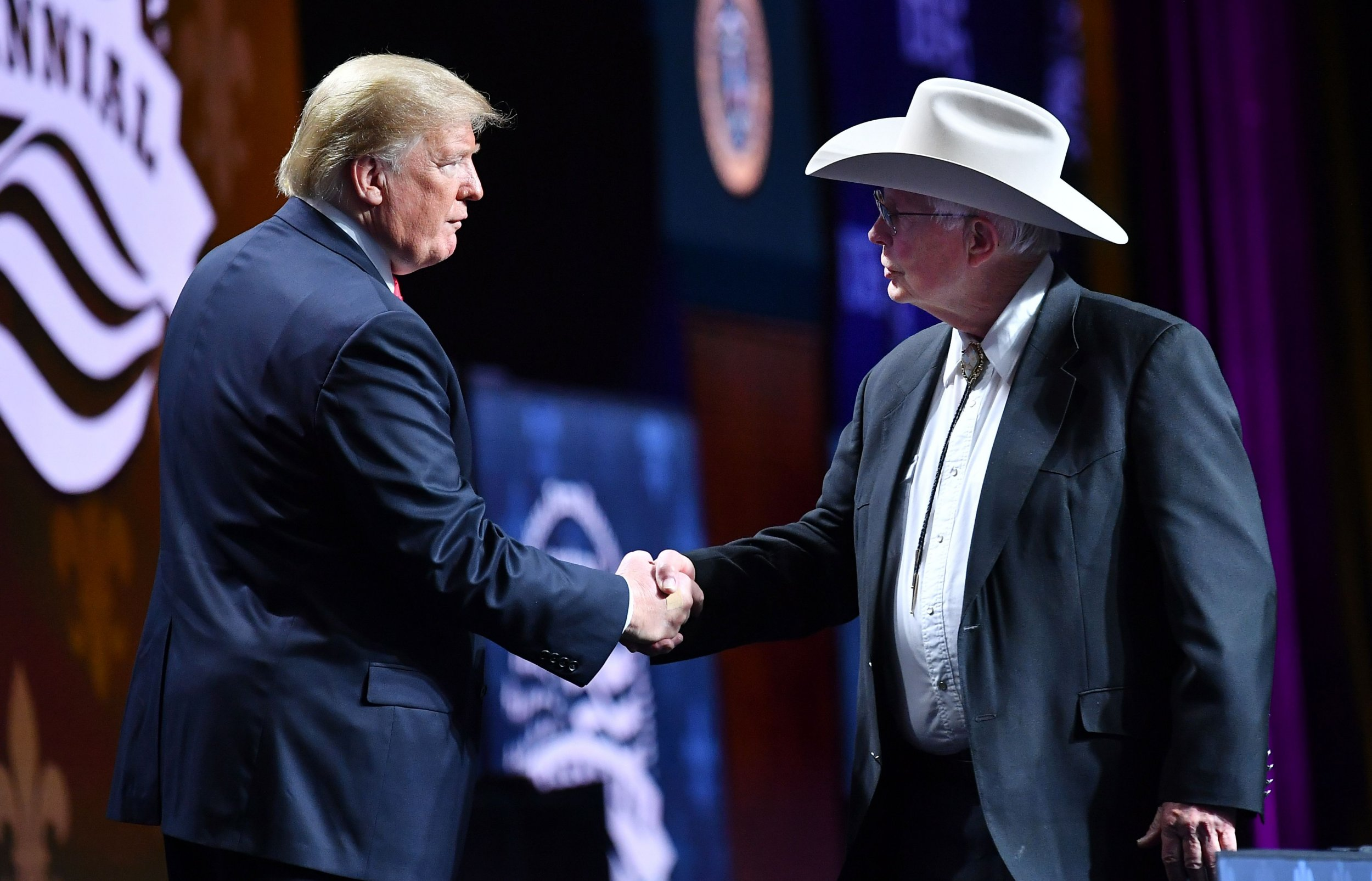 Trump with Farmer