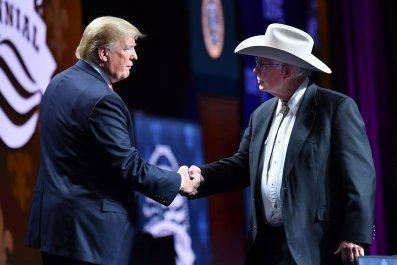 Trump with Farmer