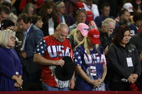 Trump supporters pray at El Paso, Texas, rally