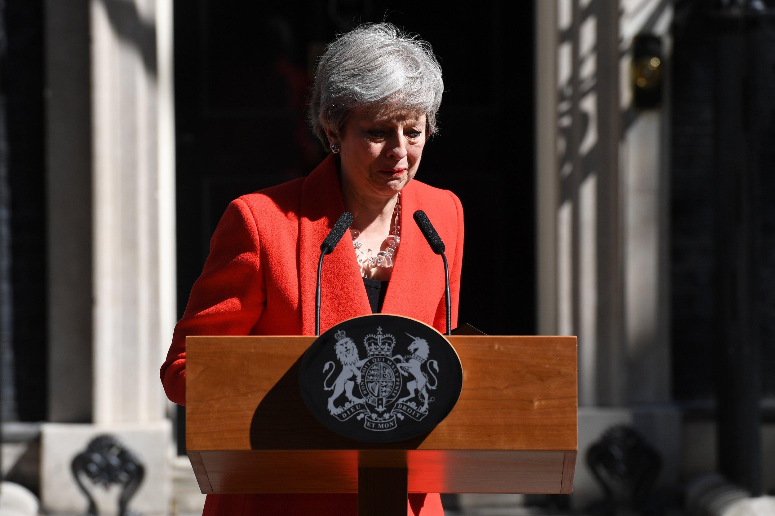 Theresa May resignation speech